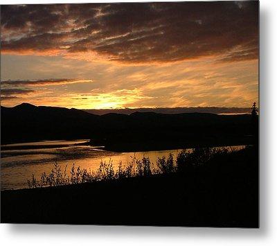 Alaskan Sunset Metal Print by Adam Owen