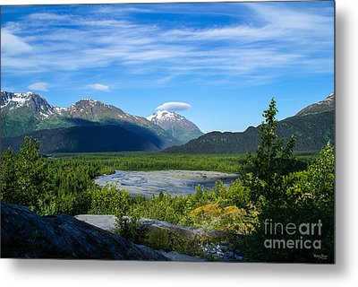 Alaska's Exit Glacier Valley Metal Print by Jennifer White