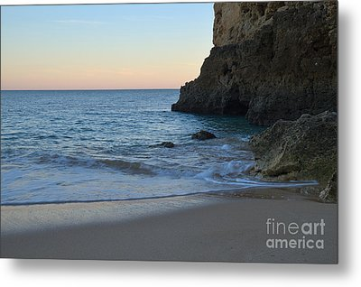 Albandeira Beach Welcoming Twilight 2 Metal Print