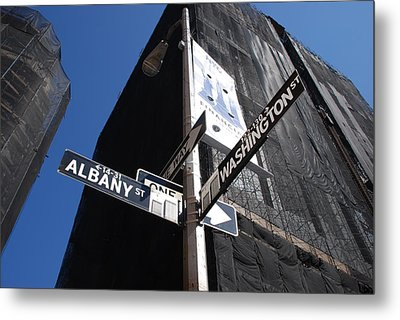 Albany And Washington Metal Print by Rob Hans