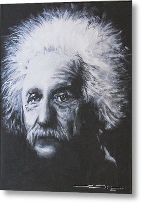 Albert Einstein Metal Print by Eric Dee