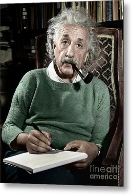 Albert Einstein Metal Print by Granger