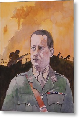 Metal Print featuring the painting Albert Jaka Vc by Ray Agius