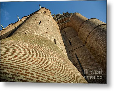 Albi Cathedral Low Angle Metal Print by RicardMN Photography