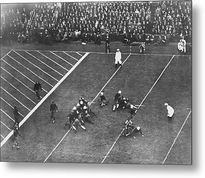 Albie Booth Kick Beats Harvard Metal Print by Underwood Archives