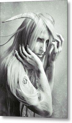 Albino Demon Metal Print by Cambion Art