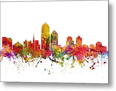 Albuquerque Cityscape 08 Metal Print by Aged Pixel