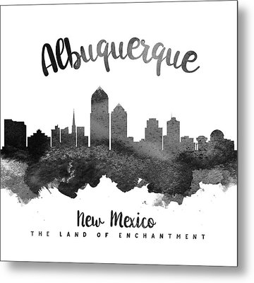 Albuquerque New Mexico Skyline 18 Metal Print by Aged Pixel