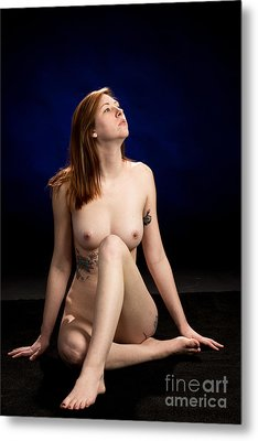Nude Fine Art Print Woman Photo In Color 7136.02 Metal Print by Kendree Miller