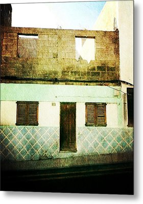 Metal Print featuring the photograph Alcala Blue House No1 by Anne Kotan