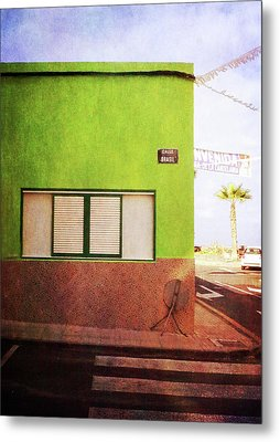 Metal Print featuring the photograph Alcala Green Corner by Anne Kotan