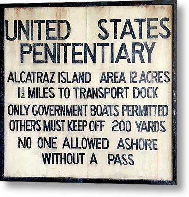 Alcatraz Welcome Sign Metal Print