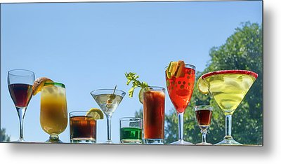 Alcoholic Beverages - Outdoor Bar Metal Print by Nikolyn McDonald