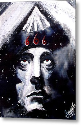 Aleister Crowley Space In Time With The Great Beast Metal Print by Sam Hane