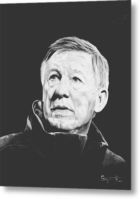 Alex Ferguson Metal Print by Stephen Rea