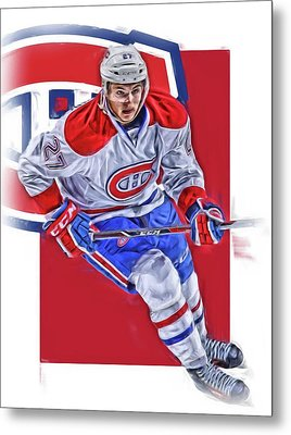 Alex Galchenyuk Montreal Canadiens Oil Art Metal Print by Joe Hamilton
