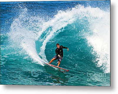 Alex Gray Carving Metal Print by Paul Topp