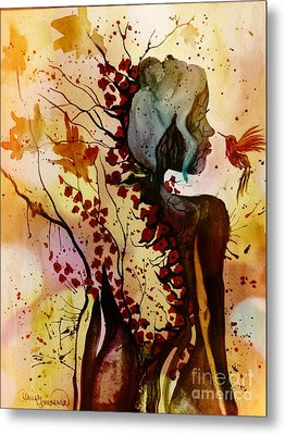 Alex In Wonderland Metal Print by Denise Tomasura