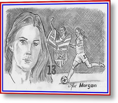 Alex Morgan Metal Print by Chris DelVecchio