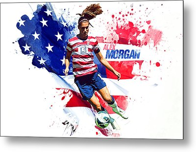 Alex Morgan Metal Print by Semih Yurdabak