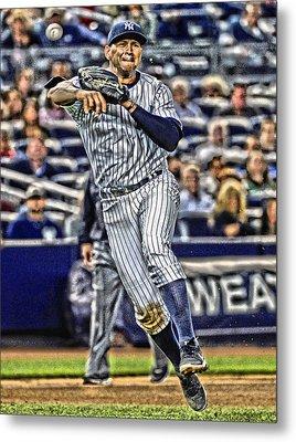 Alex Rodriguez New York Yankees Art 2 Metal Print by Joe Hamilton