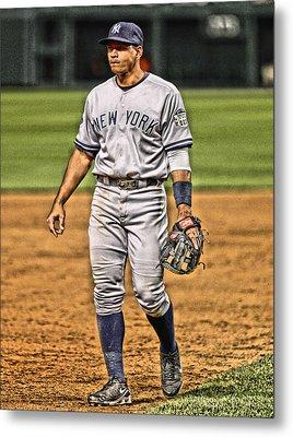 Alex Rodriguez New York Yankees Art 4 Metal Print by Joe Hamilton