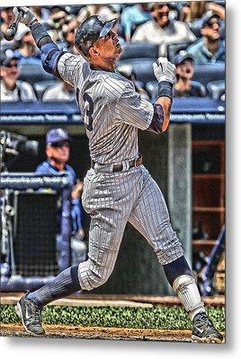 Alex Rodriguez New York Yankees Art 5 Metal Print by Joe Hamilton