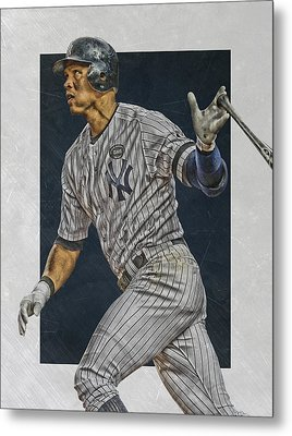 Alex Rodriguez New York Yankees Art Metal Print by Joe Hamilton