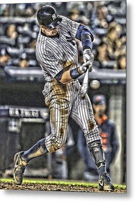 Alex Rodriguez New York Yankees Art1 Metal Print by Joe Hamilton