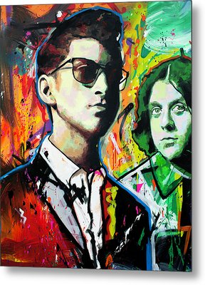 Metal Print featuring the painting Alex Turner by Richard Day