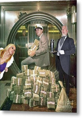 Alexander G. Bernard, His Money, Kimberly Diamond And Mr. Goldsworth  Metal Print