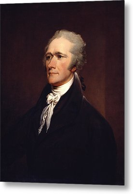 Alexander Hamilton By John Trumbull Metal Print by War Is Hell Store