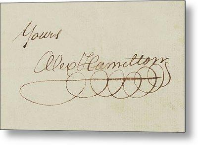 Alexander Hamilton Signature Metal Print