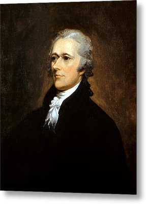 Alexander Hamilton Metal Print by War Is Hell Store
