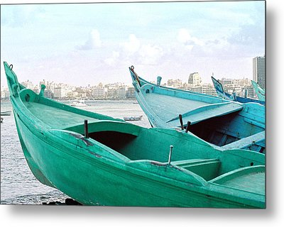 Metal Print featuring the photograph Alexandrian Boats by Cassandra Buckley