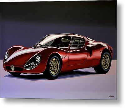 Alfa Romeo 33 Stradale 1967 Painting Metal Print by Paul Meijering