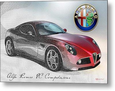 Alfa Romeo 8c Competizione  Metal Print by Serge Averbukh