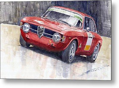 Alfa Romeo Giulie Sprint Gt 1966 Metal Print by Yuriy  Shevchuk