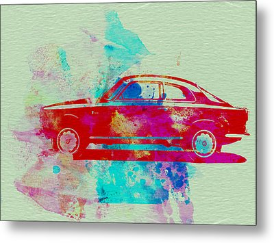 Alfa Romeo  Watercolor 2 Metal Print by Naxart Studio