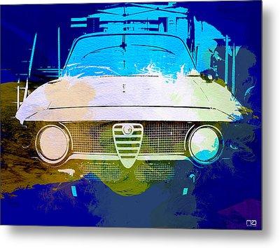Alfa Romeo Watercolor Metal Print by Naxart Studio