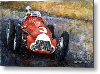 Alfa Romeo158 British Gp 1950 Luigi Fagioli Metal Print by Yuriy  Shevchuk