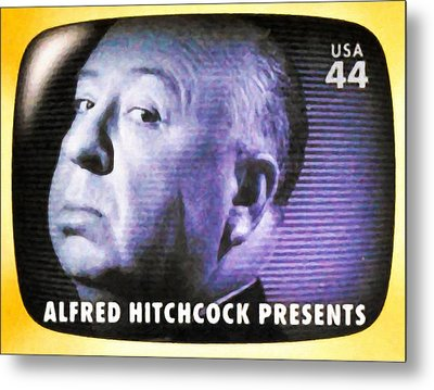 Alfred Hitchcock Presents Metal Print by Lanjee Chee