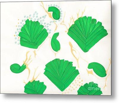 Algae Blooms Metal Print by Mary Mikawoz