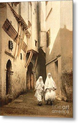 Algeria: Street Scene, C1899 Metal Print by Granger