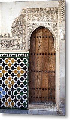 Alhambra Door Detail Metal Print by Jane Rix