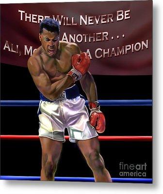 Ali - More Than A Champion Metal Print by Reggie Duffie
