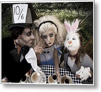 Alice And Friends 2 Metal Print by Kelly Jade King