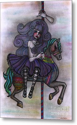 Alice And Merry-go-round Metal Print