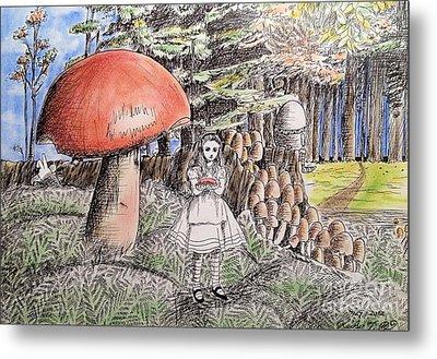 Alice In Wonderland 2 Metal Print by Keiko Olds
