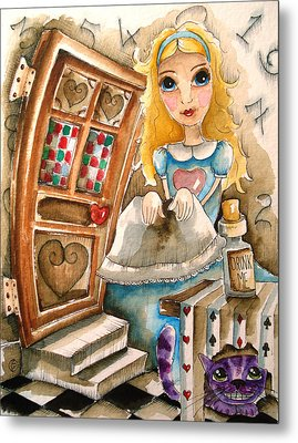 Alice In Wonderland 2 Metal Print by Lucia Stewart